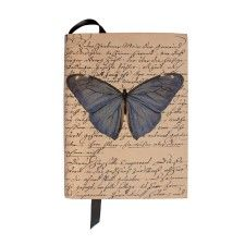 Butterfly Leather Bound Note Book