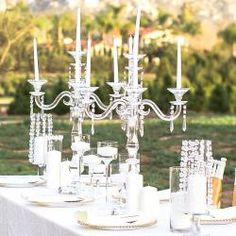 Candelabras are always a good idea Quinceanera Centerpieces, Table Centerpieces, Wedding Supplies Wholesale, For Your Party, Reception Decorations, Candelabra, Party Favors, Wedding Ceremony, Backdrops