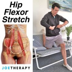 Hip Flexor Stretch and Chill - No one falling for Netflix and Chill? Give Stretching and Chill a try! Corny ass joke alert - Here's how Hip Stretching Exercises, Fascia Stretching, Stretches Before Workout, Hip Flexor Exercises, Back Exercises, Fitness Workouts, Pilates Workout, Hip Pain, Back Pain