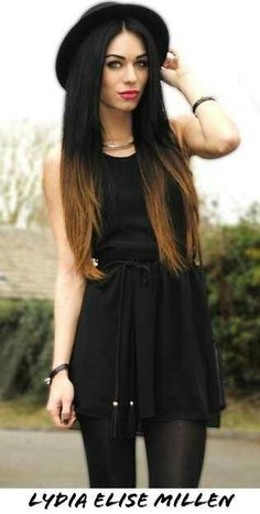 Cute ombre hair black to brown