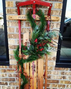Vintage Sled makes a great decoration for the holidays! Only $78. #restylechicago #reluxvintage #holidaydecor https://www.instagram.com/p/BNuem_vhazr/