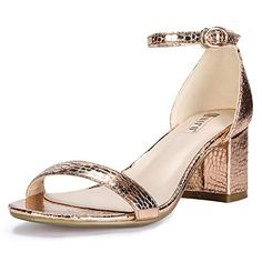 42e16cdd477 IDIFU Women s IN2 Cookie-LO Low Heel Ankle Strap Dress Pump Sandal  (Champagne