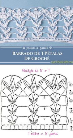 Hairpin Lace Crochet, Crochet Lace Edging, Crochet Borders, Crochet Diagram, Crochet Chart, Felt Doll Patterns, Crochet Doily Patterns, Crochet Stitches Patterns, Crochet Doilies