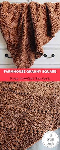 Learn How to Crochet a Classic Granny Square with this Free Pattern Modern Crochet Blanket, Crochet Square Blanket, Crochet Quilt, Granny Square Crochet Pattern, Afghan Crochet Patterns, Crochet Squares, Crochet Stitches, Modern Crochet Patterns, Crochet Blankets