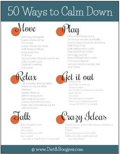 50 New Calm Down Tips