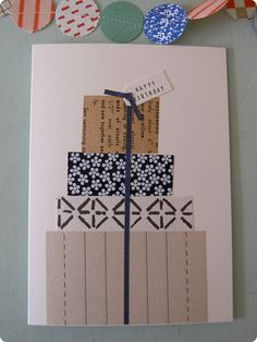 More recycling paper projects – Design*Sponge Paper Cards, Diy Paper, Paper Ribbon, Cute Cards, Diy Cards, Card Making Inspiration, Making Ideas, Wrapping Gift, Carton Invitation