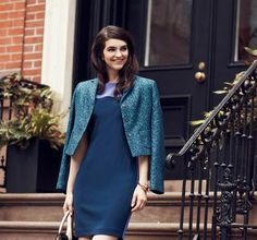 Elie Tahari -   Elie Tahari's sophisticated designs make up the streamlined uniform for modern-day jetsetters. The brand's devotees will be clamoring for this polished crop of fall staples, infused with subtly feminine details: Think figure-skimming dresses in rich blues and greens, perfectly draped si...  #Cardigan, #Hoodie, #Jacket, #Shirt, #Sweater
