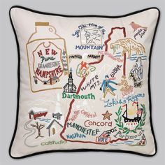 New Hampshire Pillow. I just love it because they put Maxfield Parrish over the town where I grew up.