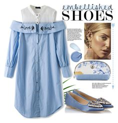 """""""I love flats"""" by killatrash ❤ liked on Polyvore featuring PiP Studio, RAS, Spring, Beauty and embellishedshoes"""