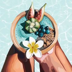 """Frances Scott on Instagram: """"Brekkie by a pool somewhere hot? OH YES, also I really want a smoothie bowl now haha😋 - - - - - -  #illustrations #illustration #art…"""" Illustration Art Drawing, Digital Illustration, Art Drawings, Graphic Wallpaper, Human Art, Pretty Art, Anime Art Girl, Cute Wallpapers, Art Inspo"""