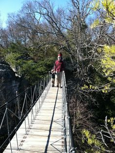The Swinging Bridge at Rock City Gardens, Chattanooga, TN