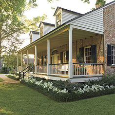 Easy flower bed for my front yard.  Love the front porch.