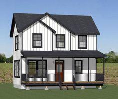 28x16 Tiny House -- #28X16H2B -- 842 sq ft - Excellent Floor Plans