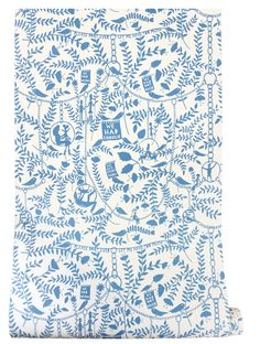 We Had Everything wallpaper - China Blue by Rob Ryan in collaboration with Mini Moderns