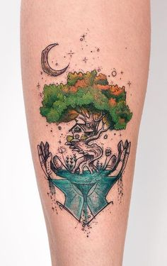 Brazilian artist Robson Carvalho is one of those ink masters who work like painters on the canvas of human body. His tattoos are real works of art on skin. Tiki Tattoo, Om Tattoo, Tattoo Dotwork, Tattoo Band, Tattoo Henna, Tattoo Und Piercing, Tattoo Anchor, Tattoo Thigh, Wrist Tattoo