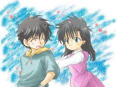 Kaito Kuroba and Nakamori Aoko