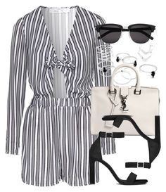 """""""Style #10000"""" by vany-alvarado ❤ liked on Polyvore featuring Topshop and Yves Saint Laurent"""