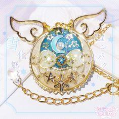 再販+♡雪化粧コンパクト風ネックレス♡+HM-145