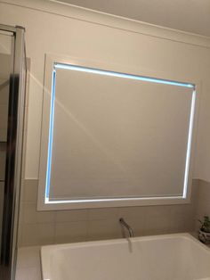 Roller Blinds in bathroom done by Majestic Curtains and Blinds Roller Blinds, Curtains With Blinds, Window Coverings, Bathroom Lighting, Windows, Mirror, Furniture, Home Decor, Bathroom Light Fittings