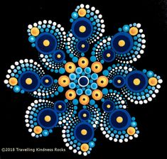 Pattern Club February World Wildlife Fund Best Picture For Mandala Painting videos For Your Ta Rock Painting Patterns, Dot Art Painting, Rock Painting Designs, Dot Painting Tools, Mandala Painted Rocks, Mandala Rocks, Mandala Drawing, Mandala Pattern, Painted Rocks