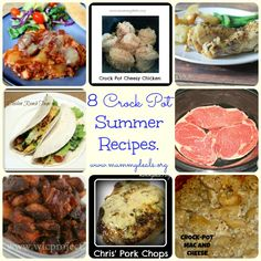 8 of the Best Crock Pot Summer Recipes from @Clair O'Neill @ Mummy Deals and others. #recipes #crockpot #slowcooker #summer