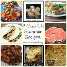 8 of the Best Crock Pot Summer Recipes from @Clair O'Neill O'Neill @ Mummy Deals and others. #recipes #crockpot #slowcooker #summer