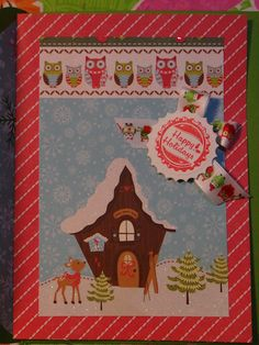 #christmas #card I made #cardmaking #papercrafting #stamping #christmascard