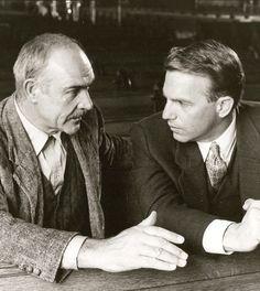 """Sean Connery y Kevin Costner en""""Los Intocables de Eliot Ness"""" (The Untouchables), 1987"""