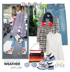 """""""Fall Style With The RealReal: Contest Entry"""" by goreti ❤ liked on Polyvore featuring Acne Studios, Chanel, Equipment, Valentino, Christian Dior, Versace and Bulgari"""