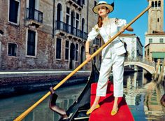 Zuzanna Bijoch in Venice for Vogue Japan l #travel #fashion