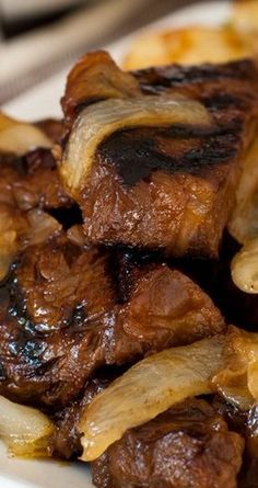 Steak Tips with Caramelized Onions - A Family Feast