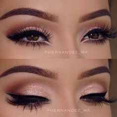 Perfect Cat Eye Makeup Ideas to Look Sexy ★ See more: http://glaminati.com/cat-eye-makeup-look-sexy/ Cat Eye Makeup, Bride Eye Makeup, Bride Wedding Makeup, Wedding Make Up, Pink Wedding Nails, Sexy Eye Makeup, Hazel Eye Makeup, Eyebrow Makeup, Hazel Eyes