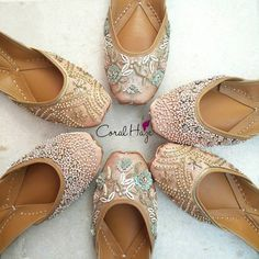 ShaadiWish Brings Juttis From Coral Haze At Discounts For Bridesmaids Indian Shoes, Beaded Shoes, Walk In My Shoes, Espadrilles, Wedding Heels, Bridal Shoes, Designer Wear, Fashion Shoes, Costumes