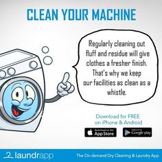 More #LaundryDay #Lifehacks from #Laundrapp - How to clean your washing machine...though you can just leave it to the professionals!