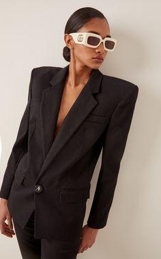Shop the latest trends. Gucci Frames, Sunglass Frames, Runway Fashion, Mirrored Sunglasses, Latest Trends, Ready To Wear, Luxury Fashion, How To Wear, Fashion Design