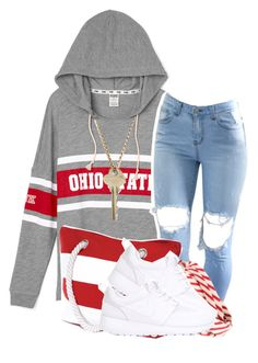 """""""."""" by clinne345 ❤ liked on Polyvore featuring Salsa, Brooks Brothers, NIKE and The Giving Keys"""