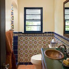 spanish-style decorating ideas | blue tiles, spanish style and spanish