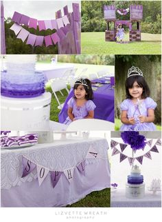 Sofia the first birthday inspired #purple #birthday #sofiathefirst by Lizvette Wreath Spring Hill, FL photographer