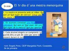 El primer dia de classes. Àngels Pons. 3r cicle. Escola Margalida Florit, Ciutadella, Menorca. 1st Day, Primers, Videos, Back To School, Activities, School, First Day, One Day, Classroom