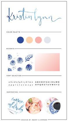 Blue watercolor logo design