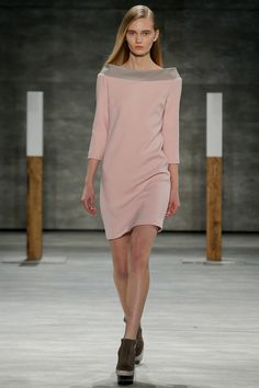 ADEAM | Fall 2014 Ready-to-Wear Collection | Style.com Pink shawl collar dress