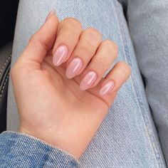 Rounded Acrylic Nails, Oval Nails, Cute Acrylic Nails, Neutral Nails, Nude Nails, Nail Manicure, Pretty Nails, Gorgeous Nails, Milky Nails