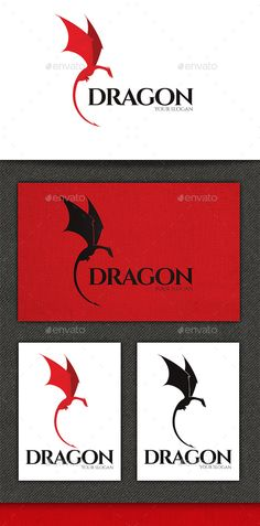 Dragon Logo by Bilage Dragon logo design is applicable for any kind of business field. Vector based and fully editable logo, easy to change color and te