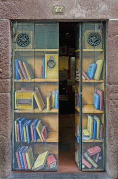 I included this because I loved the optical illusion of the bookshelf turning into a door- or the other way around.