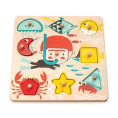 Underwater Shapes — Baby Clothes - Piper Jade Kids Clothing For Babies Toddler Gifts, Toddler Toys, Kids Toys, Names Of Different Shapes, Wooden Puzzles, Wooden Toys, Puzzles For Toddlers, Shape Puzzles, Toy R