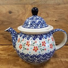 Teapot ~Large (7 cups) - Red Posies **WH**