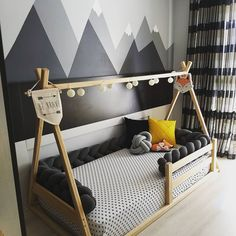 26 Rustic Bedroom Design and Decor Ideas for a Cozy and Comfy Space - The Trending House Boy Toddler Bedroom, Toddler Rooms, Baby Bedroom, Baby Boy Rooms, Baby Room Decor, Nursery Room, Kids Bedroom, Diy Toddler Bed, Teen Boy Bedding