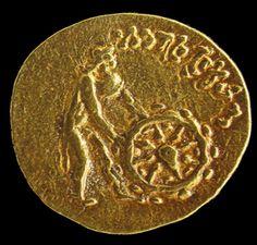 Tilia Tepe (Tillya Tepe) gold token. Kabul Museum. Bibl : Gérard Fussman et Anna Maria Quagliotti,