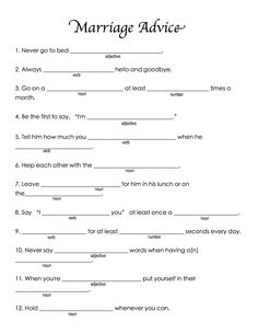 Funny Bridal Shower Mad Libs | ... people told me these were the best shower games they'd ever played