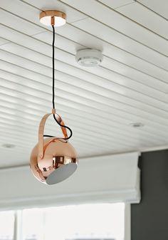 frandsen ball w. handle, copper pendant light